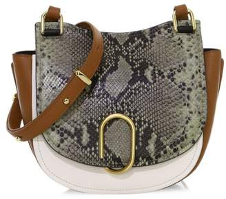 3.1 Phillip Lim Alix Python Print & Leather Saddle Bag