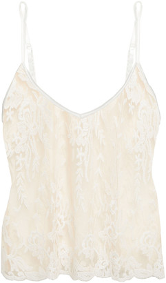 Cosabella Rosie Embroidered Cotton-blend Tulle Camisole