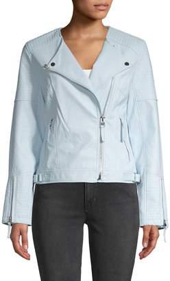 Philanthrophy Women Faux-Leather Biker Jacket