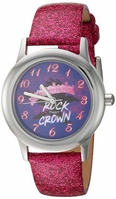 Disney Girls' Descendants 3 Stainless Steel Analog Quartz Watch with Patent Leather Strap