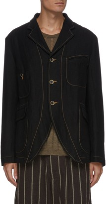 UMA WANG Contrast stitch four pocket blazer