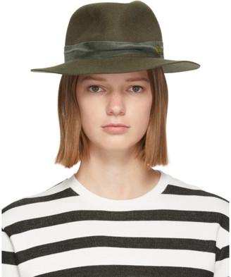 Maison Michel Green Felt Derek Hat