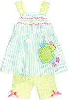 Nannette 2-Pc. Turtle Tunic and Shorts Set, Baby Girls (0-24 months)