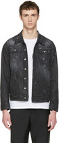 DSQUARED2 Black Denim Micro-studded Long Jacket