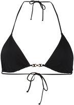 Tory Burch gold-tone detail bikini top - women - Nylon/Spandex/Elastane - M