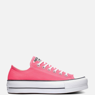 Converse Chuck Taylor All Star Lift Ox Trainers - Hyper Pink