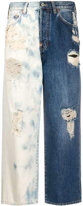 Givenchy Two-Tone Cropped Jeans
