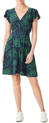 French Connection Ditsy Floral Tea Dress Navy