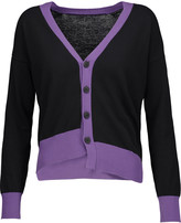 Tomas Maier Asymmetric color-block cotton cardigan