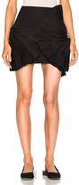 Jacquemus Ruffle Detail Skirt in Black.