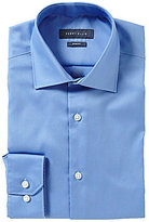 Perry Ellis Non-Iron Slim-Fit Spread-Collar Stretch Solid Dress Shirt