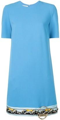 Emilio Pucci Contrast Hemline Shift Dress