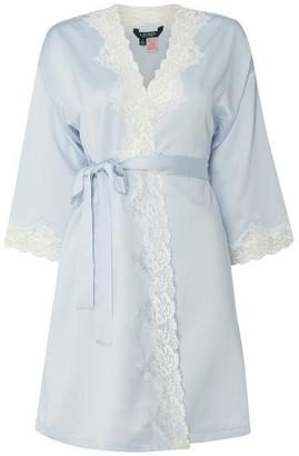 Lauren Ralph Lauren Bodywear Satin And Lace Robe