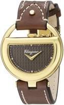 Salvatore Ferragamo Women's FG5060014 -Tone Stainless Steel Watch with Diamond Markers
