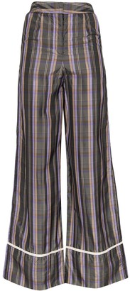 N. Duo plaid wide-leg trousers