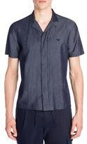 Emporio Armani Chambray Silk Shirt