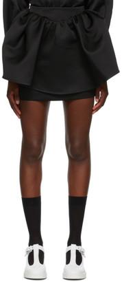 SHUSHU/TONG Black Puffy Miniskirt