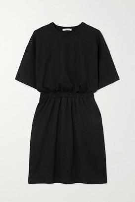 Ninety Percent Net Sustain Open-back Organic Cotton-jersey Mini Dress - Black