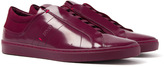 Hugo Post Tenn Dark Red Patent Leather Trainers