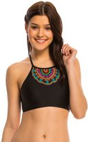 Hobie A Stitch In Time High Neck Crop Bikini Top 8140324