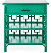 David Francis Furniture Sobe Chinoiserie Nightstand, Emerald