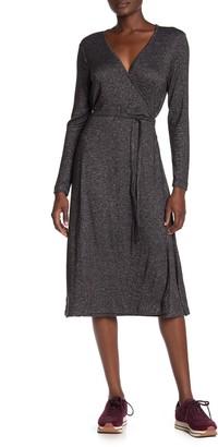 Susina Faux Wrap Cozy Knit Dress