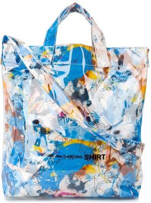Comme des Garçons Shirt Graffiti-Print Tote Bag