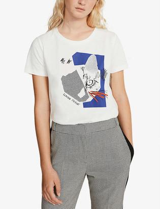 Claudie Pierlot Tofun graphic-print cotton T-shirt