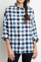 Umgee USA Checkered Plaid Top