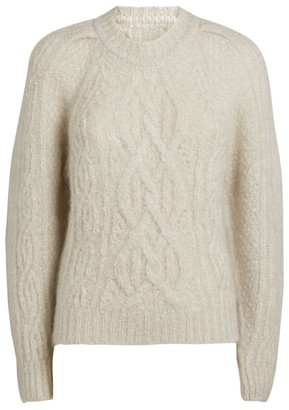 Isabel Marant Mohair-Wool Esmee Cable Knit Sweater