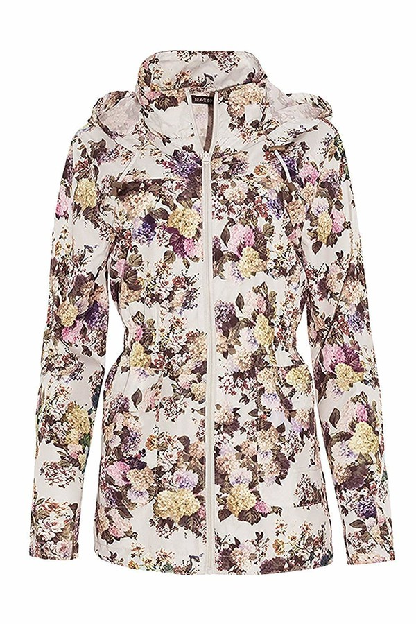 Thumbnail for your product : Brave Soul Womens Assorted Macs Cream Floral - UK 10