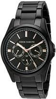 Vince Camuto Men's VC/1084BKBK Multi-Function Black Bracelet Watch