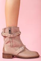 Nasty Gal Adele Spike Boot - Taupe Nubuck