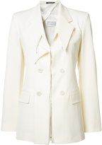 Maison Margiela deconstructed lapel blazer - women - Cotton/Viscose/Spandex/Elastane/Virgin Wool - 38