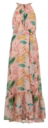 Dorothy Perkins Womens **Tall Pink Tropical Print Maxi Dress, Pink
