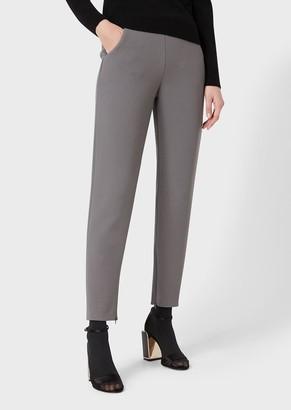 Giorgio Armani Slim-Fit Trousers In Stretch Wool