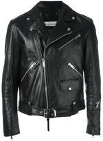 Golden Goose Deluxe Brand Golden biker jacket - men - Cotton/Calf Leather/Viscose - M