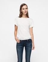 Base Range Tee Shirt in Off White