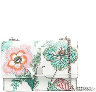Salvatore Ferragamo Vara bow floral crossbody bag