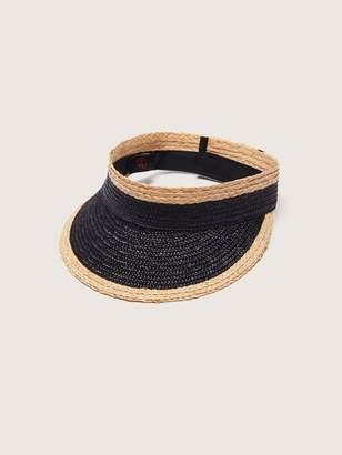 Color Block Paper Straw Visor - Canadian Hat
