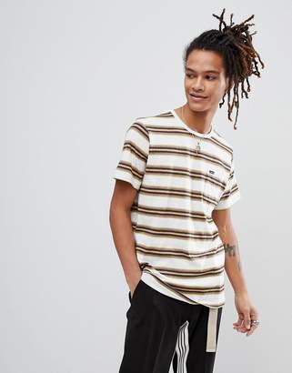 Volcom Belfast Striped T-Shirt-White