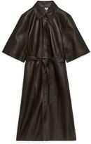 Arket Leather Shirt Dress