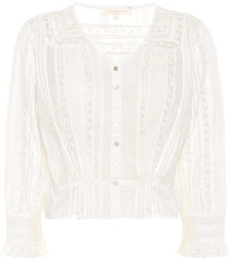 LoveShackFancy Aubrielle cotton blouse