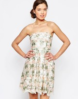 Glamorous Bandeau Dress In Floral Print