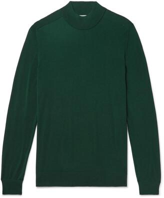 Mr P. Merino Wool Mock-Neck Sweater