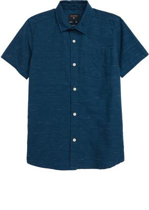 Quiksilver Fruber Way Slub Short Sleeve Button-Up Shirt