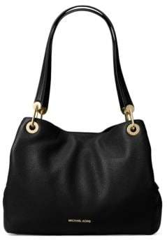 MICHAEL Michael Kors Raven Large Leather Shoulder Bag