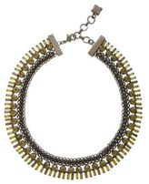 BCBGMAXAZRIA Iron Corded Stone Necklace