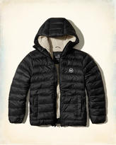 Hollister Sherpa Lined Down Puffer Jacket