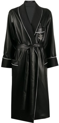 Ermanno Scervino faux leather belted coat
